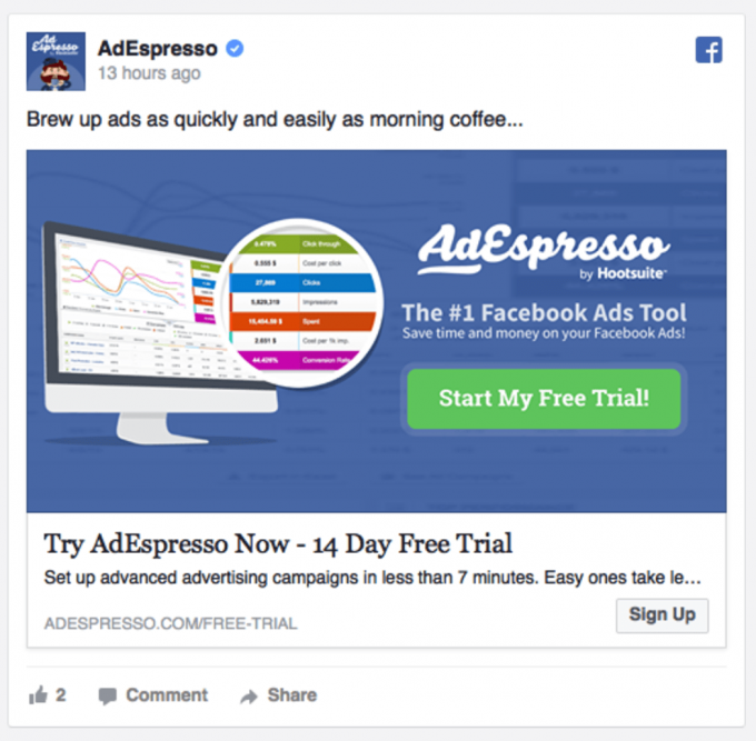 AdEspresso is a great interface for Facebook ad campaigns.