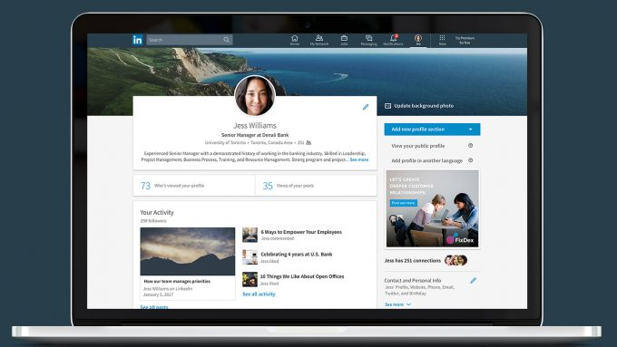 A strong, quality profile is key to growing your LinkedIn presence.
