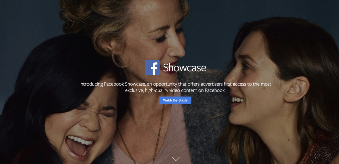 Facebook Showcase is a new medium for advertisement