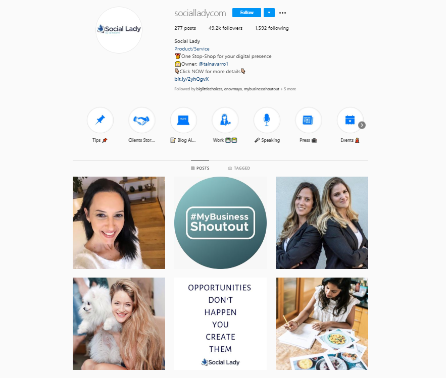 Social Lady Instagram Profile