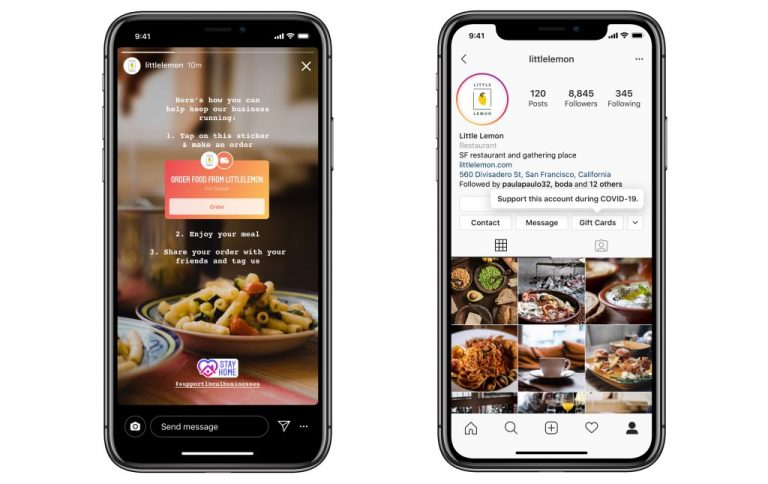 Takeaway and Giftcard Instagram Story Stickers
