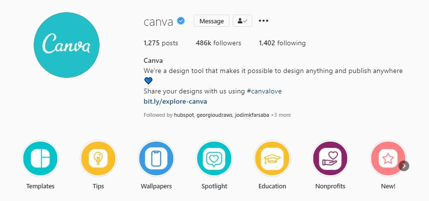 Canva Instagram Highlights