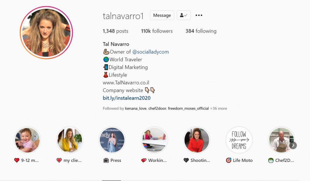 Tal Navarro Instagram Profile