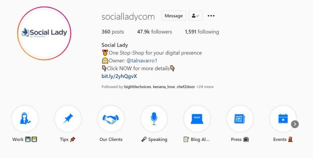 Social Lady Instagram Profile