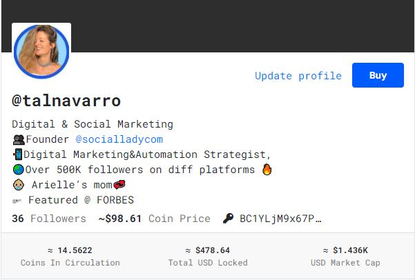 Tal Navarro BitClout Profile