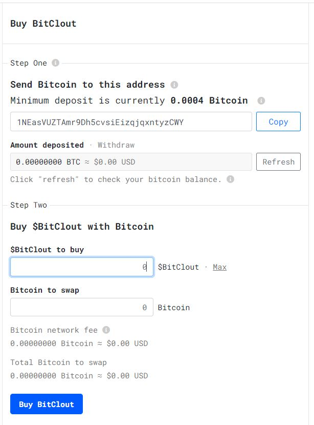 BitClout Registration Form