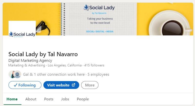 social lady linkedin